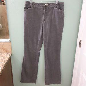 J. Jill Stretch Women's Gray Wide Leg Denim Jeans
